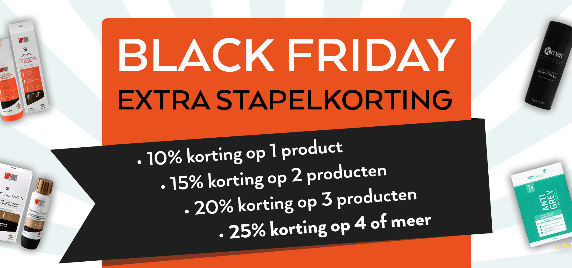 Black Friday week: tot wel 25% extra stapelkorting