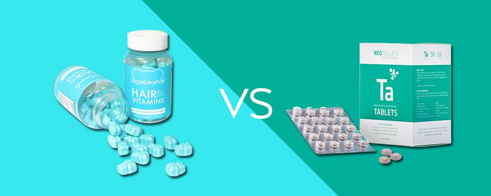 SugarBearHair Vitamins vs. Neofollics Tablets