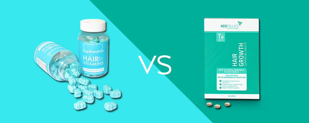 SugarBearHair Vitamins vs. Neofollics Tablets