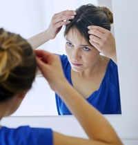 Treatment against hair loss for women